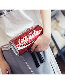 Fashion Red Coca-cola Letter Decorated Ring-pull Can Shape Bag