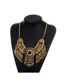 Fashion Gold Color Arrows Pendant Decorated Tassel Design Necklace