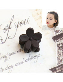 Fashion Dark Gray Flower Decorated Pure Color Simple Hair Pin