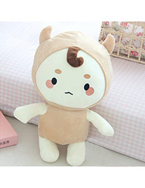 Cute Beige Color Matching Decorated Simple Action Figures