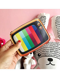 Fashion Multi-color Television Pattern Decorated Color Matching Simple Wallet