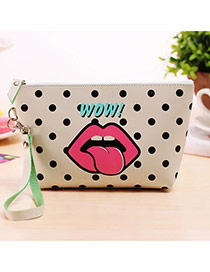 Fashion White+black Cartoon Pattern Decorated Square Shape Design Waterproof Bag