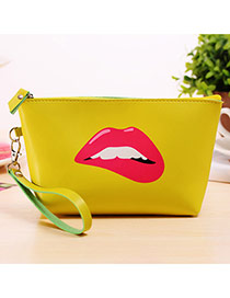 Fashion Yellow Cartoon Pattern Decorated Square Shape Design Waterproof Bag