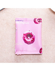 Fashion Pink Doughnut Pattern Decorated Square Shape Simple Handbag