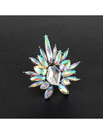 Fashion Multi-color Color Matching Decorated Irregular Shape Simple Ring
