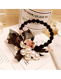 Fashion Black Shivering&pearls Decorated Simple Hair Band