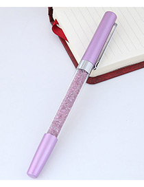 Fashion Purple Macadamn Shape Decorated Simple Gel Pen