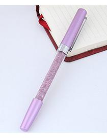 Fashion Purple Macadamn Shape Decorated Simple Gel Pen