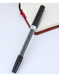 Fashion Black Macadamn Shape Decorated Simple Gel Pen