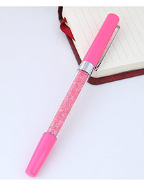 Fashion Pink Macadamn Shape Decorated Simple Gel Pen