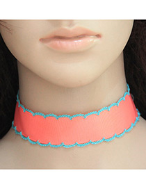 Fashion Pink Color Matching Decorated Simple Design Choker