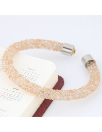 Trendy Beige Pure Color Decorated Simple Opening Bracelet