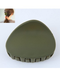 Fashion Dark Green Triangle Shape Decorated Pure Color Hair Clip