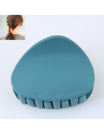 Fashion Dark Blue Triangle Shape Decorated Pure Color Hair Clip