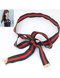 Trendy Green Bowknot Decorated Color Matching Necklace
