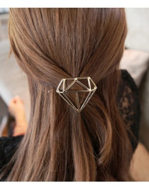 Fashion Gold Color Pure Color Decorated Geometric Shape Hairpin