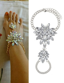 Fashion Silver Color Waterdrop Shape Decorated Simple Anklet