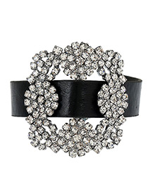 Elegant Black Square Shape Diamond Decorated Hollow Out Simple Bracelet