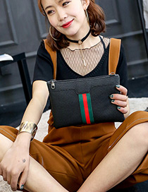 Fashion Green Color-matching Decoratedc Simple Long Chain Bag