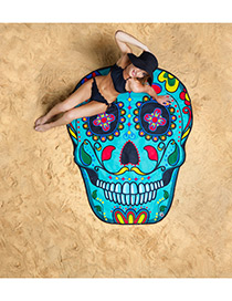 Fashion Multi Color Skull Shape Pattern Decorated Simple Cappa