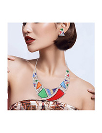 Fashion Multi-color Color-matching Decorated Simple Jewelry Sets