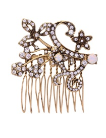 Fashion Gold Color Flower Decorated Branch Shape Simple Hairpin