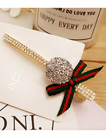 Fashion Silver Color Bowknot&round Ball Decorated Duckbilled Hair Pin