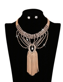 Fashion Gold Color Tassel Pendant Decorated Pure Color Simple Jewelry Sets