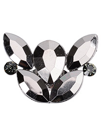 Trendy Black Oval Shape Diamond Decorated Pure Color Simple Ring