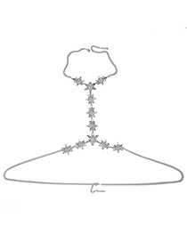 Exaggerate White Star Shape Decorated Simple Pure Color Body Chain
