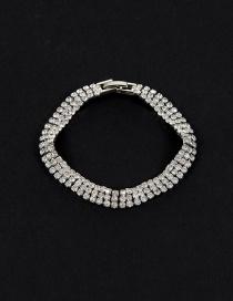 Fashion Silver Color Round Shape Decorated Simple Pure Color Bracelet