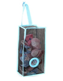 Fashion Blue Mesh Shape Decorated Hanging Design Color Matching Storage Bag