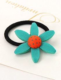 Lovely Blue Sunflower Shape Decorated Simple Baby Hair Band