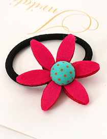 Lovely Plum-red Sunflower Shape Decorated Simple Baby Hair Band
