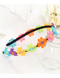 Cute Multi-red Flower Shape Decorated Simple Color-matching Baby Hairpin