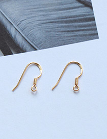 Fashion Gold Color U Shape Decorated Pure Color Simple Ear Clip