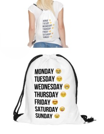 Fashion White Expression Pattern Color Matching Simple Backpack