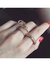 Fashion Gold Color Round Shape Decorated Pure Color Simple Ring
