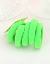 Cute Green Pure Color Decorated Simple Round Shape Hair Band (5pcs)