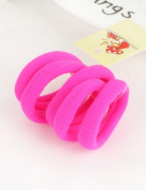 Cute Fluorescent Plum-red Pure Color Decorated Simple Round Shape Hair Band (5pcs)