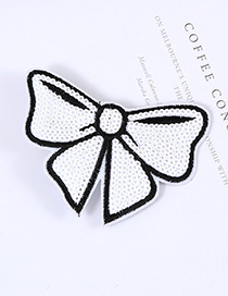 Lovely White Bowknot Shape Decorated Simple Pure Color Hairpin