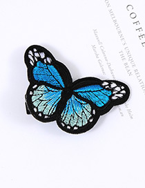 Lovely Blue Butterfly Decorated Simple Color Matching Hairpin