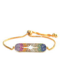 Personality Gold Color Color Matching Decorated Bracelet
