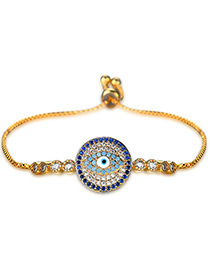 Personality Gold Color Eye Shape Decorated Bracelet