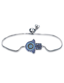 Personality Silver Color Palm Shape Decorated Bracelet