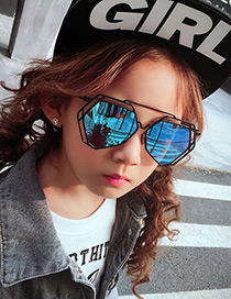 Fashion Black Hollow Out Decorated Children Sunglasses