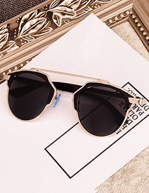 Cute Black Pure Color Decorated Children Sunglasses