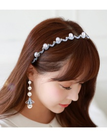 Elegant Light Blue Flower Decorated Hair Clasp