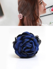 Elegant Blue Flower Decorated Hairpin