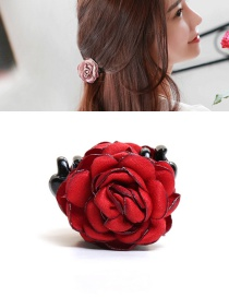 Elegant Red Flower Decorated Hairpin